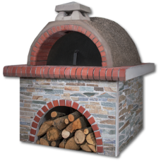 Παραδοσιακός φούρνος με ξύλα, στενάρι και κόκκινο πυρότουβλο