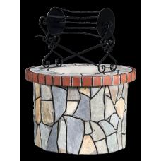 Πηγάδι – Well: Με ακανόνιστη πέτρα Kαρύστου και κόκκινο τούβλο