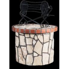 Πηγάδι: Με πορόλιθο και κόκκινο τούβλο
