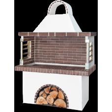 Barbecue – ψησταριά κήπου (bbq) με καφέ πυρότουβλο