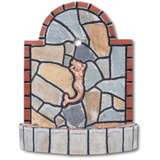Βρυσάκι με παράσταση και ακανόνιστη πέτρα καρύστου