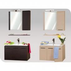 SANTOS BEΝΓΚΕ 075 Έπιπλο μπάνιου με ντουλάπι, φωτισμό και εταζέρα